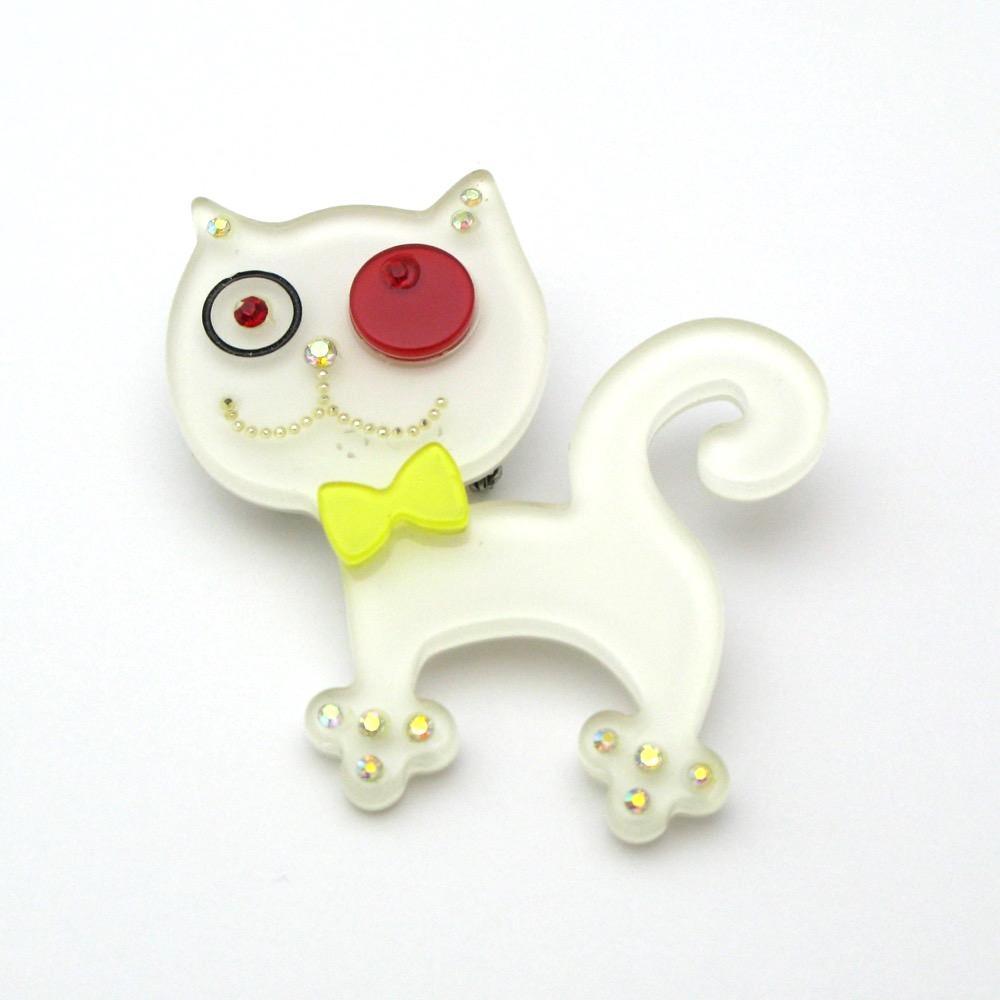 FEVER 猫のブローチ画像