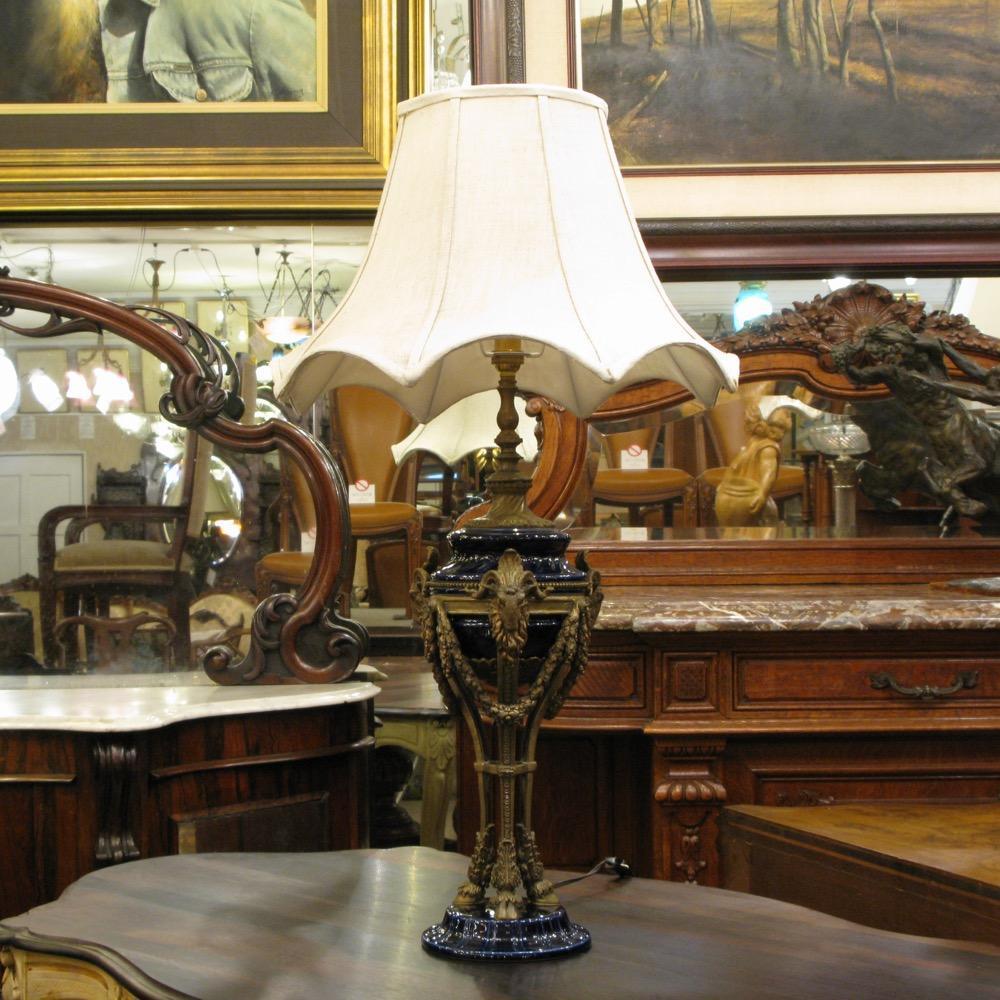 会員限定セール! フランス セーブルスタイル テーブルランプ画像