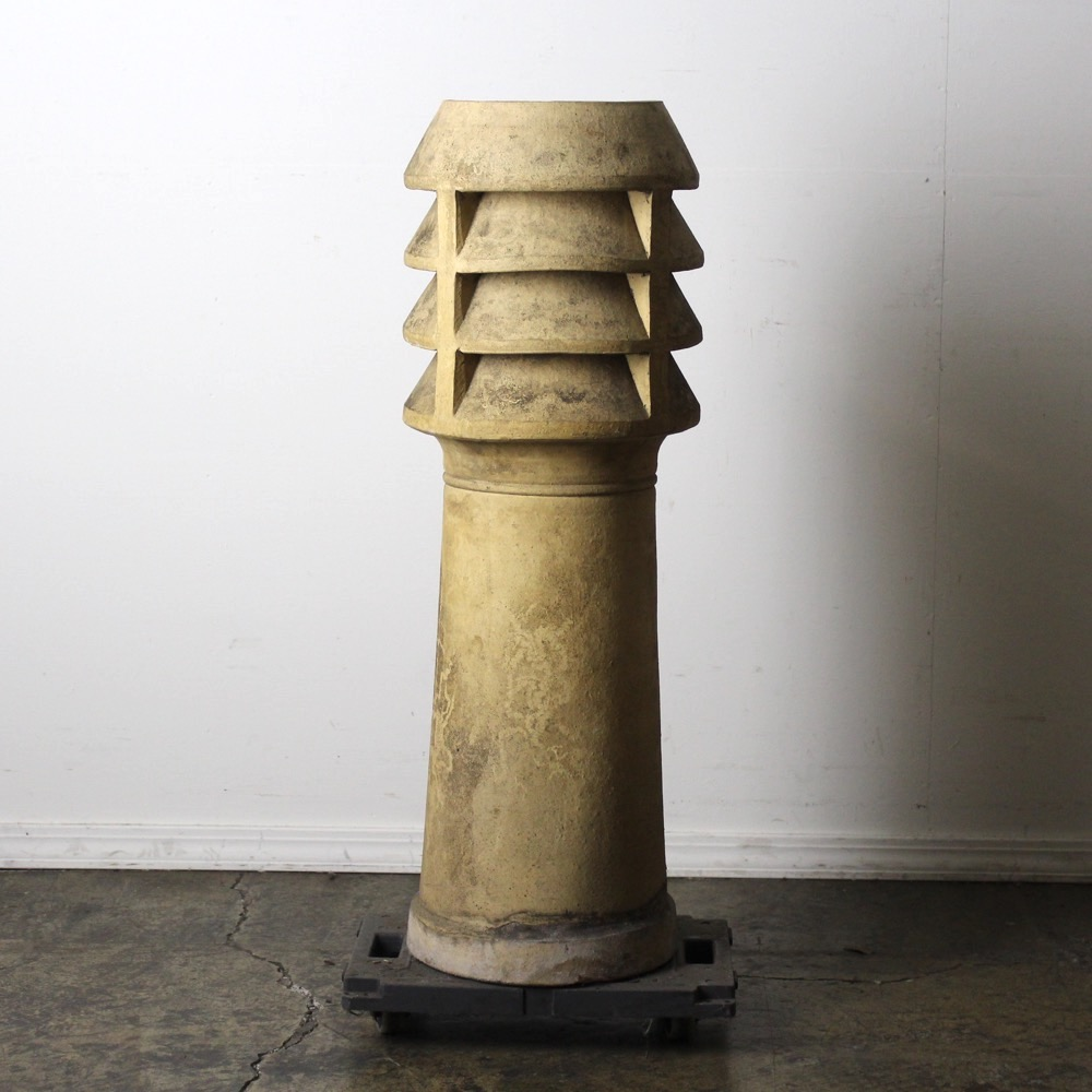 イギリス アンティーク チムニーポットの画像