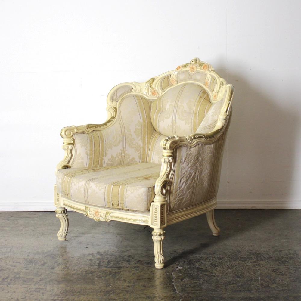 40周年記念セール! イタリア製 ロココスタイル シングルソファーの画像