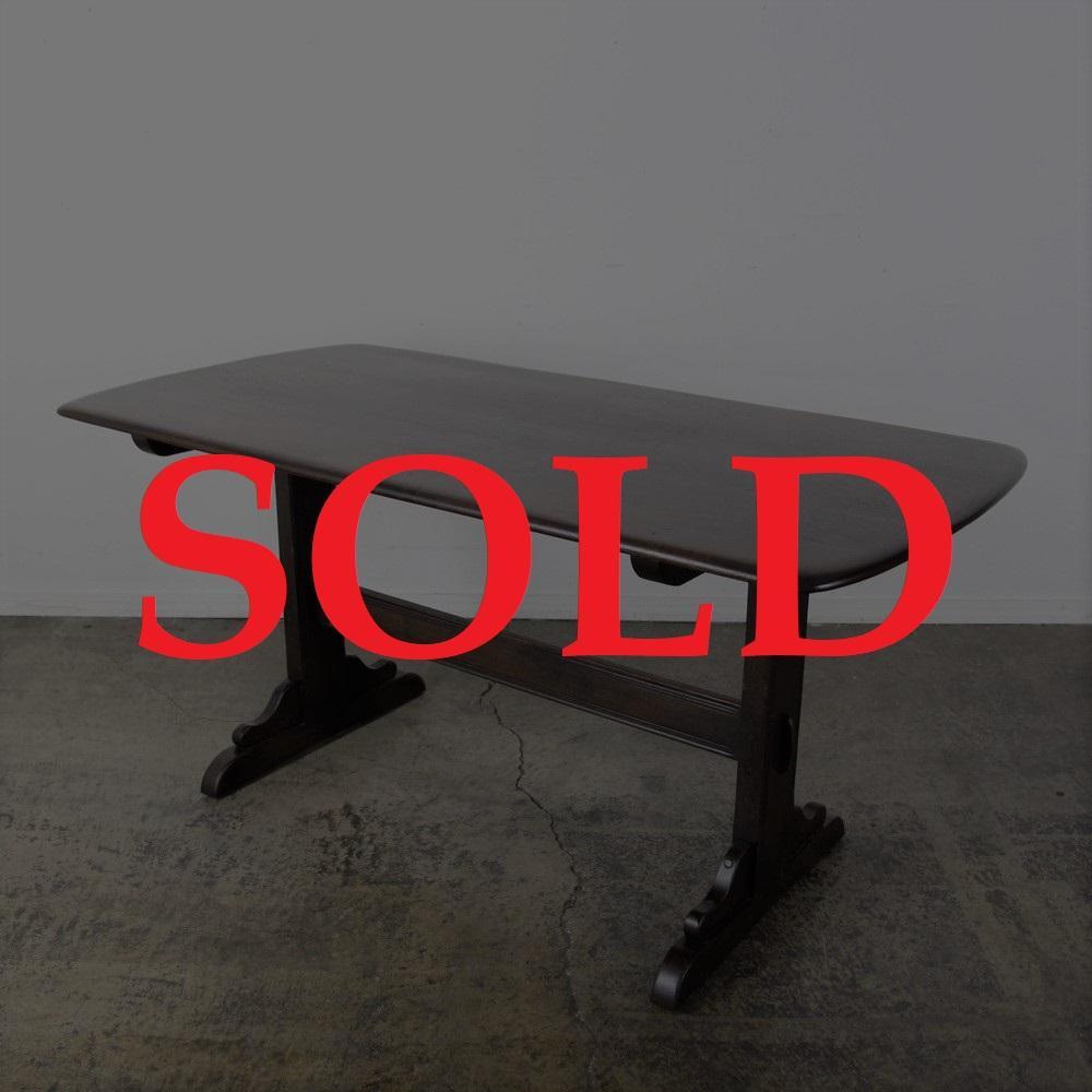 イギリス ヴィンテージ アーコール リフェクトリーテーブル画像