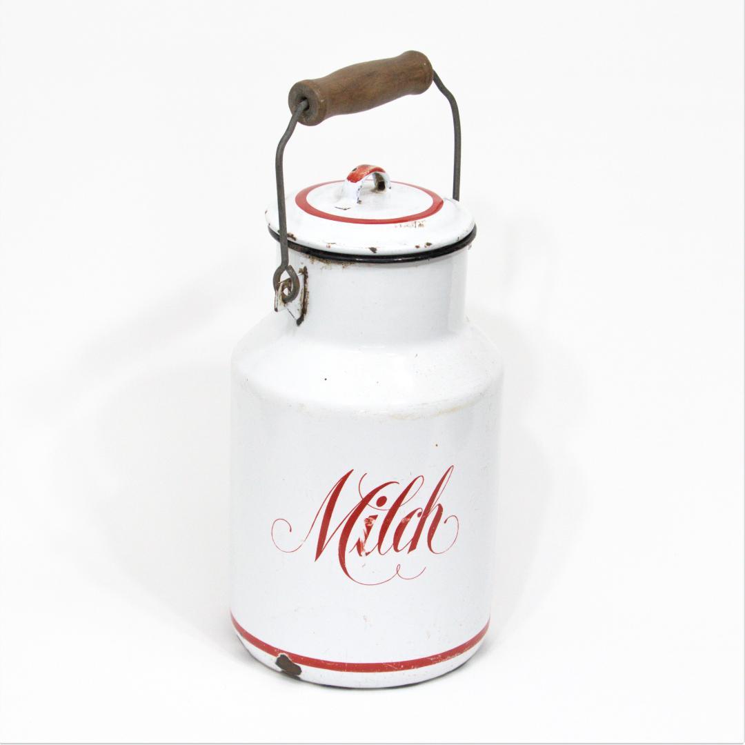 ドイツ ヴィンテージ ホーロー ミルク缶画像