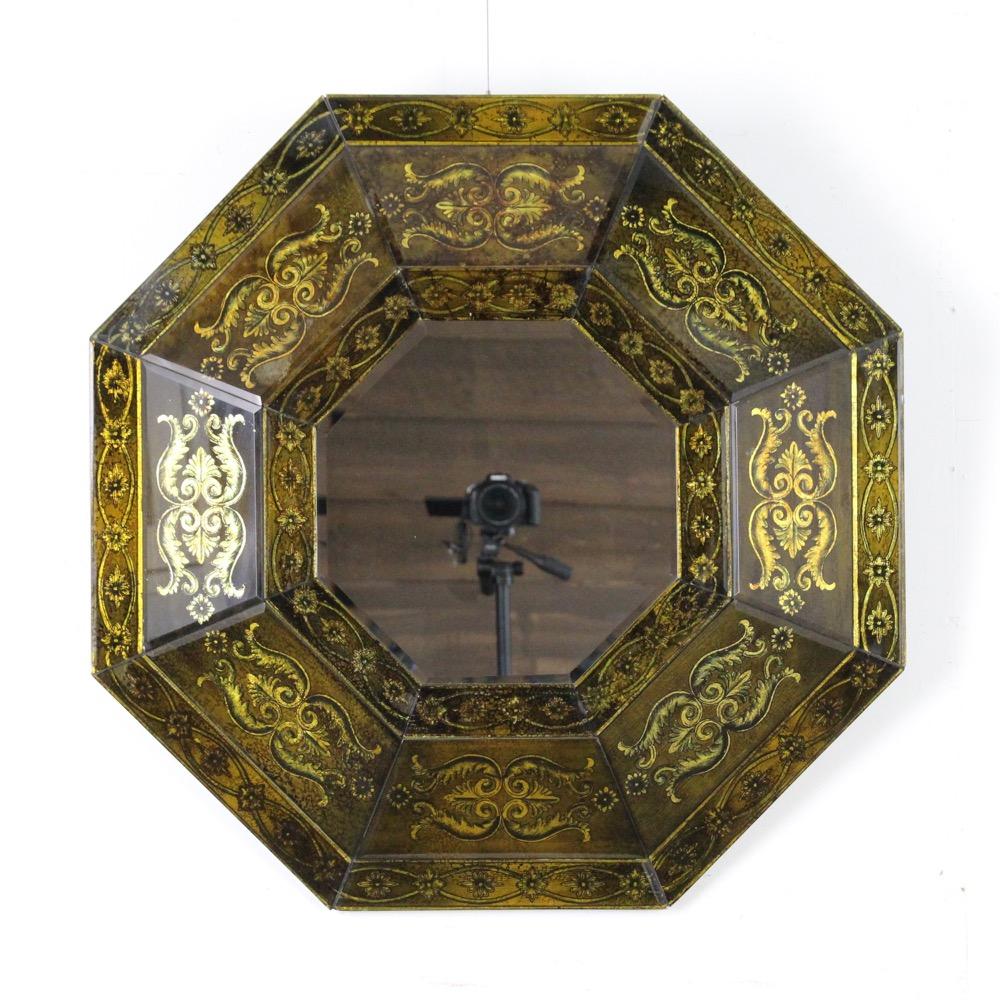 イギリス オクタゴン ウォールミラー画像