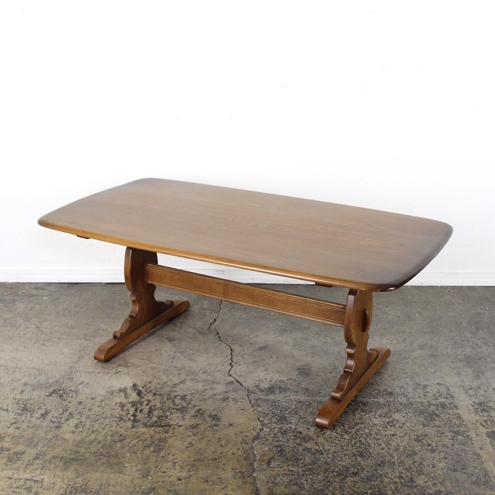 イギリス ヴィンテージ アーコール ローテーブル画像
