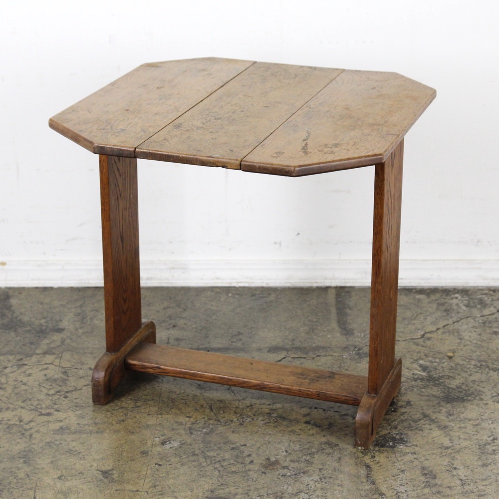イギリス アンティーク ドロップリーフ スモールテーブル画像