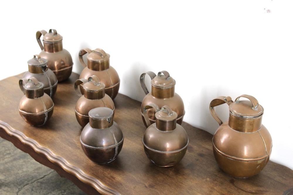 イギリス アンティーク ガーンジー ミルクカン 9個セット画像