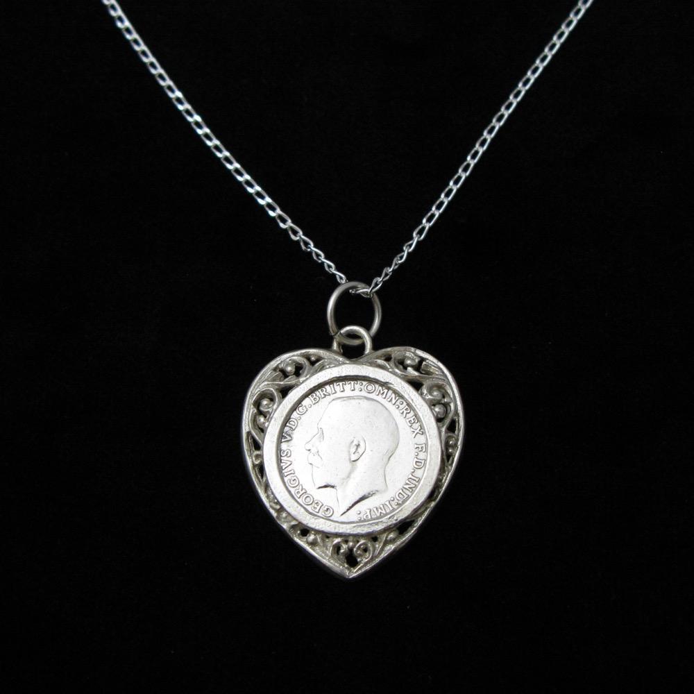 イギリス ジョージ5世 3ペンス銀貨 ペンダント画像