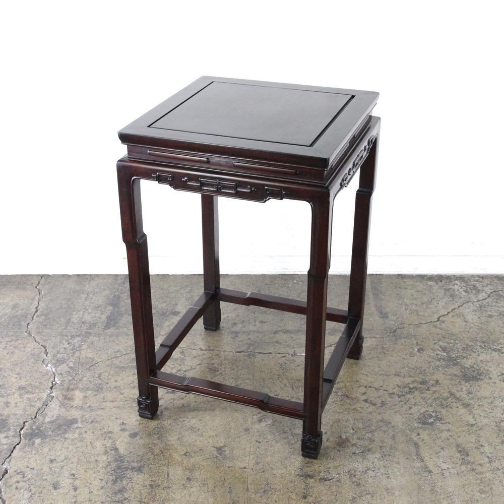 ヴィンテージ 唐木 花台 サイドテーブル画像