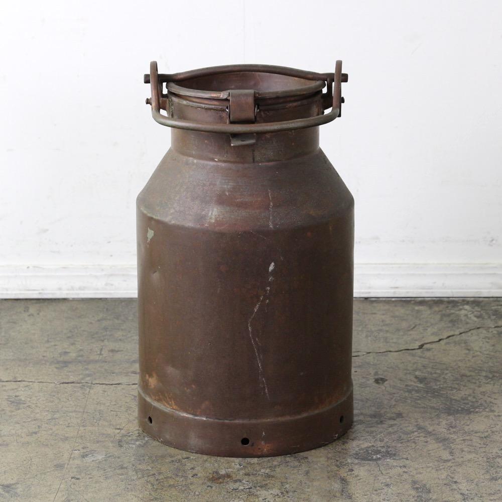 イギリス アンティーク コッパー ミルク缶画像