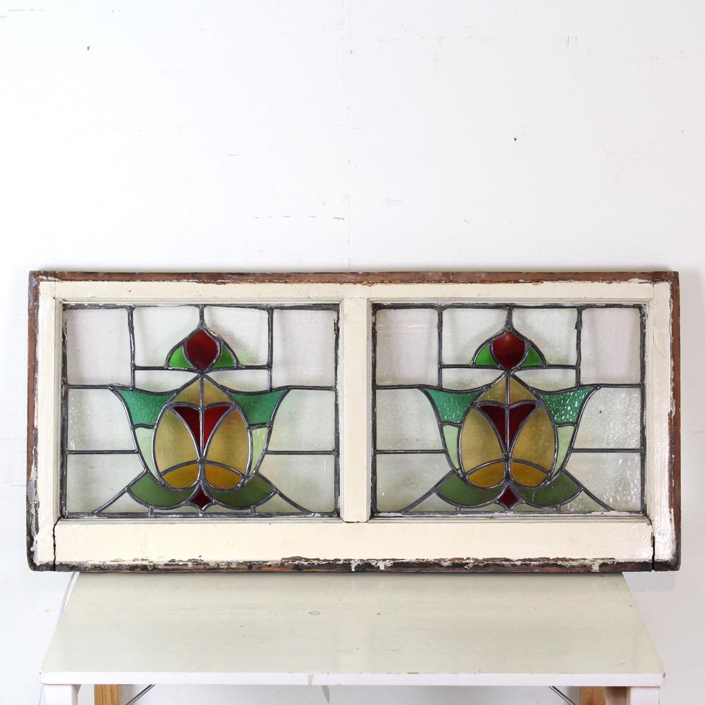 イギリス アンティーク ステンドグラス画像
