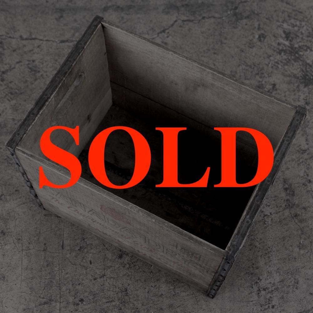 アメリカ ヴィンテージ CANADA DRY ウッドボックス画像