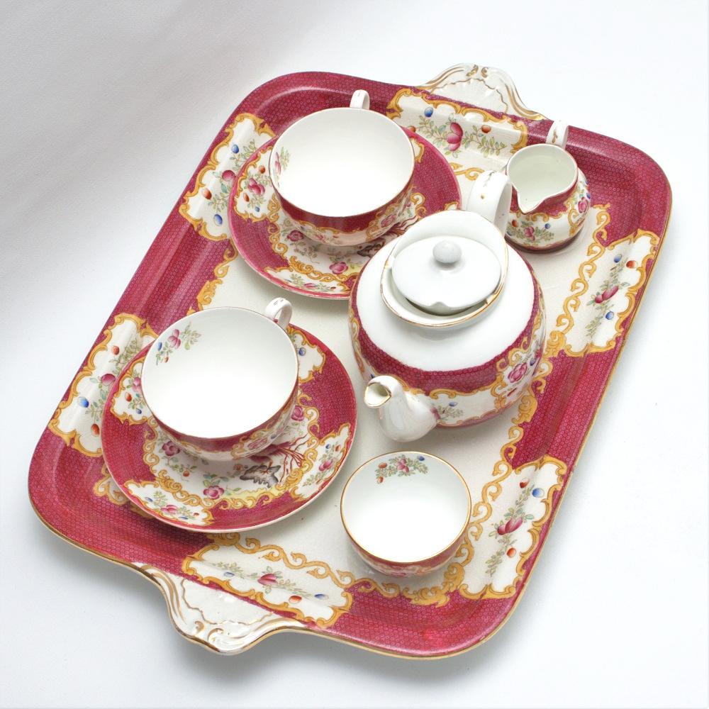 イギリス アンティーク Tea for Two キャビネットセット画像