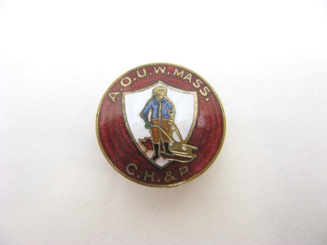 アメリカ アンティーク ラペル飾りボタンの画像