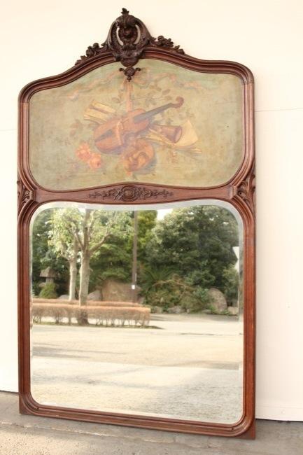 フランス アンティーク ウォールミラーの画像