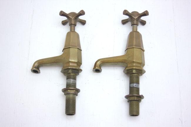 アンティーク 水栓・蛇口 ペアの画像