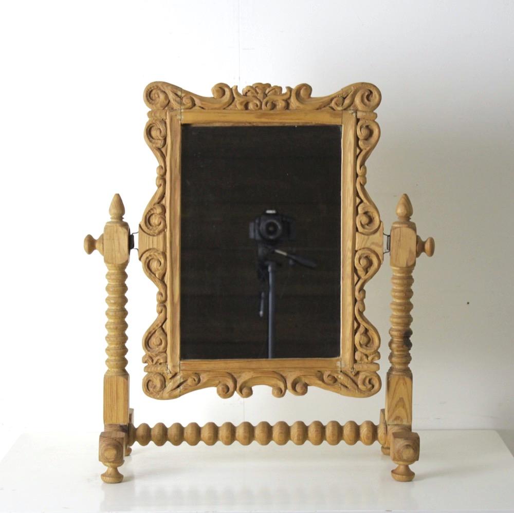 イギリス カーヴィング トイレットミラー画像