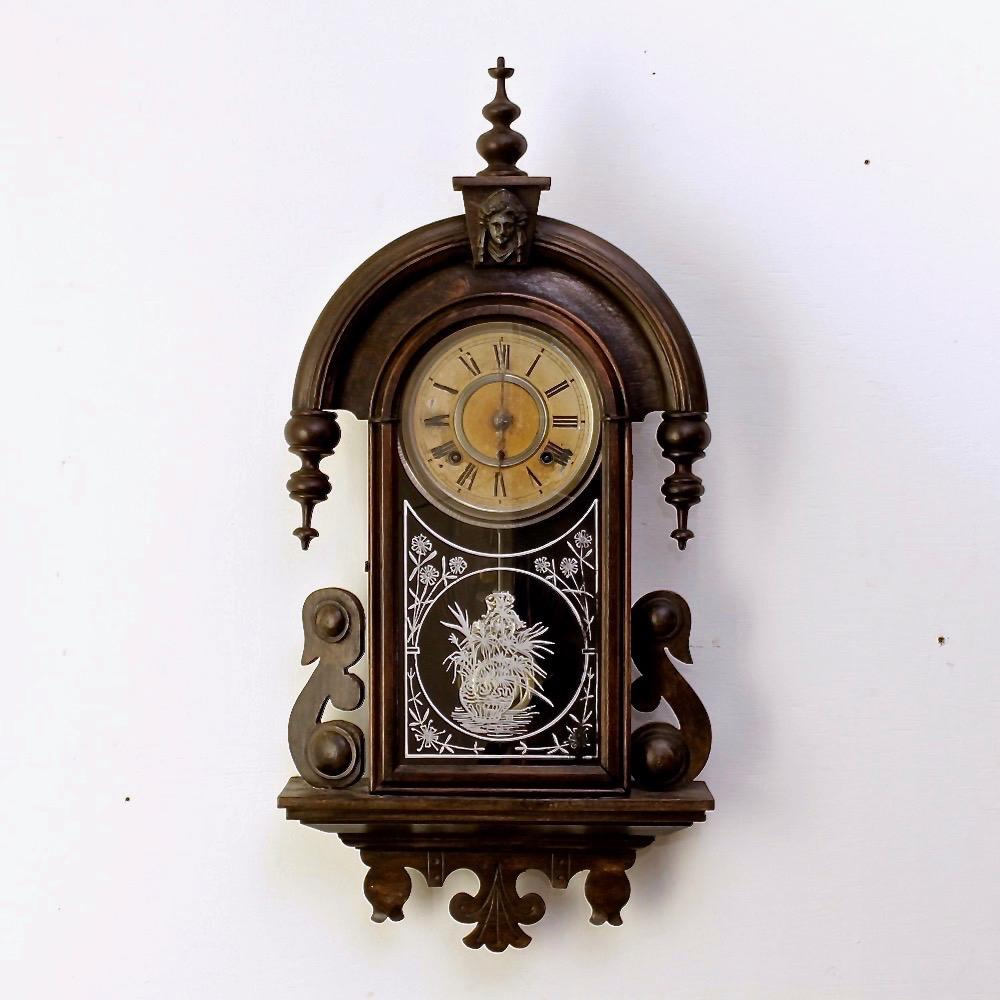 アンティーク 掛時計 ANSONIA HABANA画像