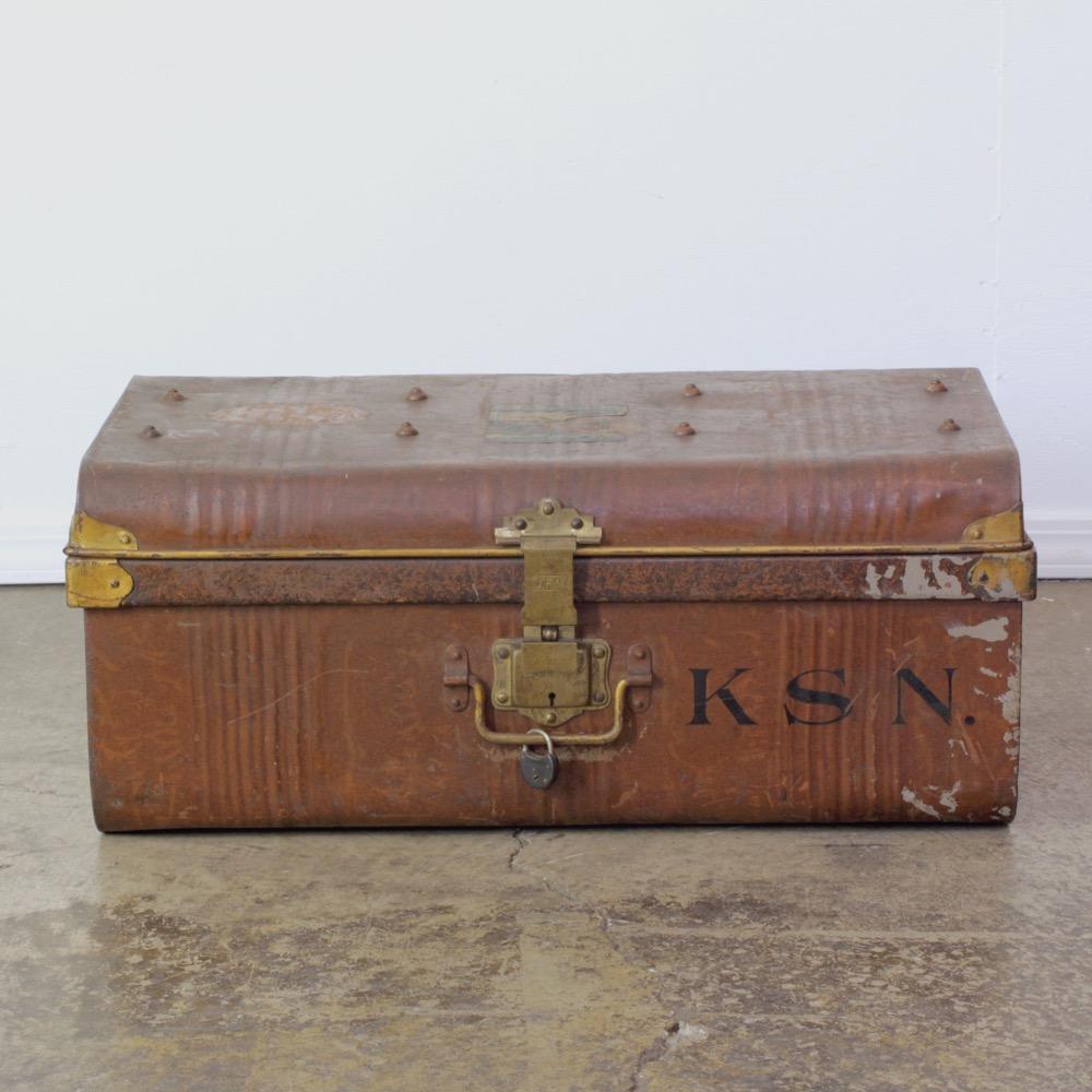 イギリス アンティーク グレインペイント ティントランク画像