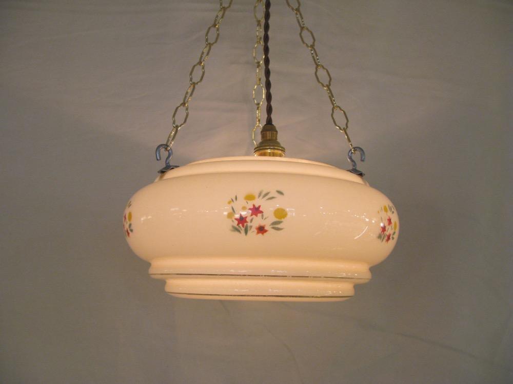 イギリス アンティーク ランプボウル ハンギングランプ画像