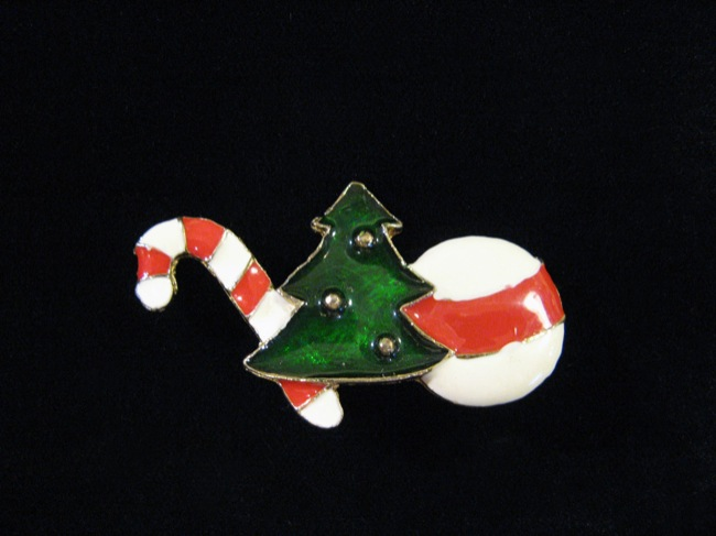 クリスマス ブローチの画像