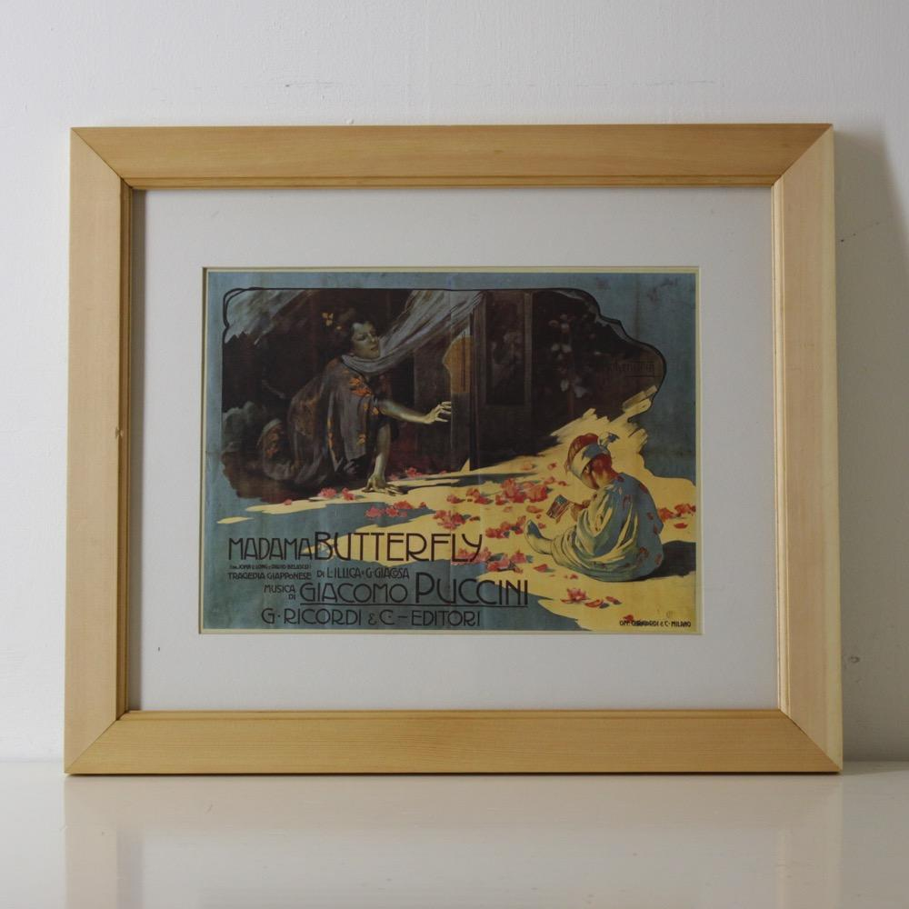 イタリア オペラポスター フレーム画像