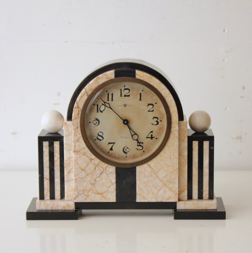 ヴィンテージ 大理石 置き時計画像