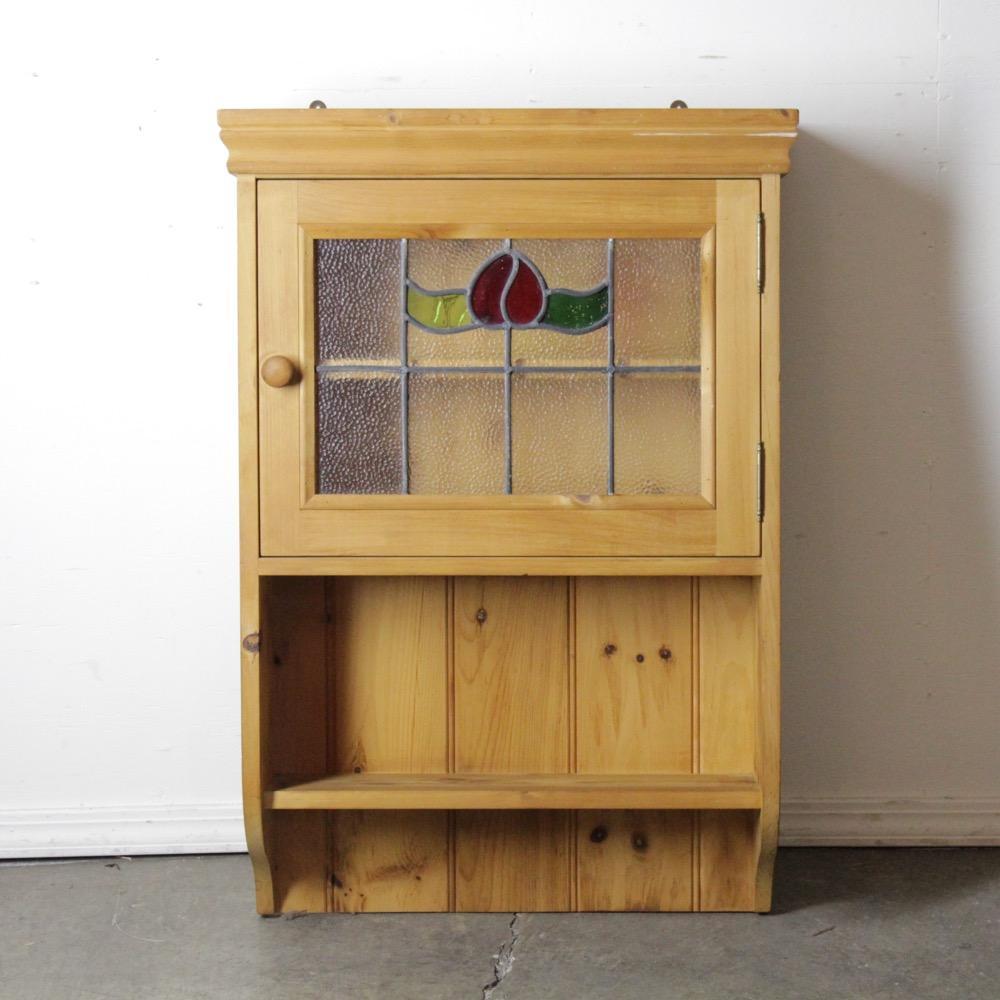 イギリス ステンドグラス キッチンシェルフ画像