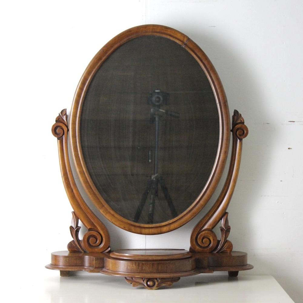 イギリス アンティーク トイレットミラー画像