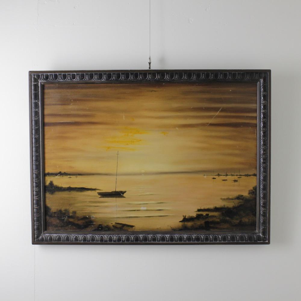 ヴィンテージ オイルキャンバスの画像