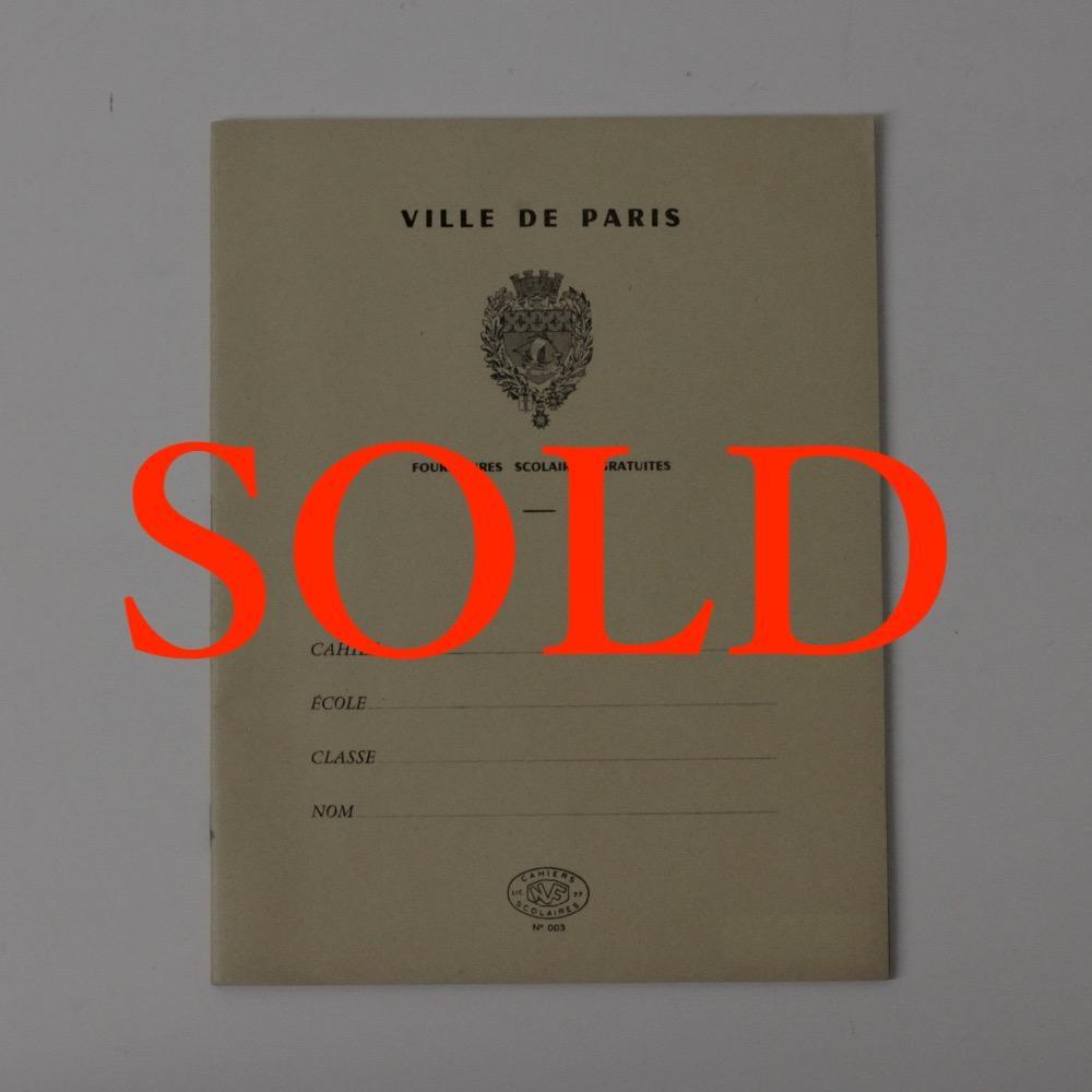 フランス ヴィンテージ ノート 黄画像