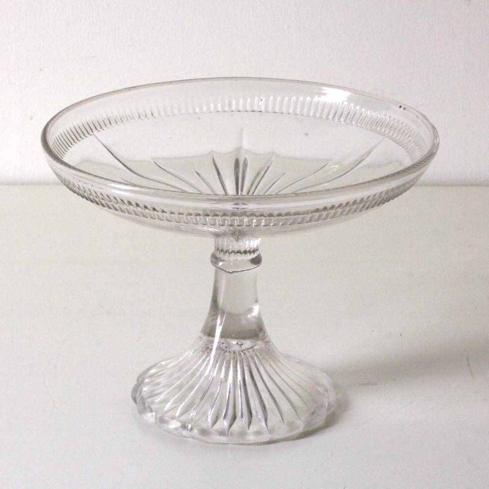 ヴィンテージ ガラス コンポートの画像
