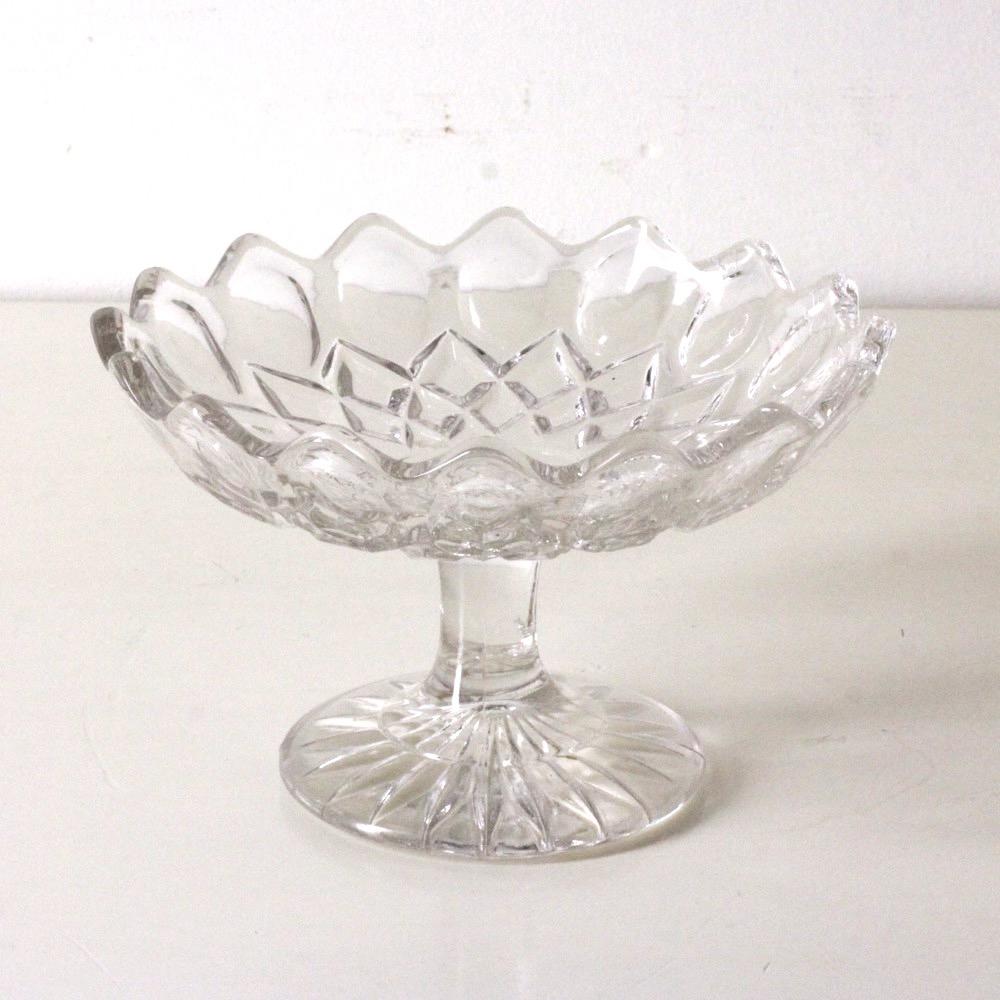 ヴィンテージ ガラス コンポート画像