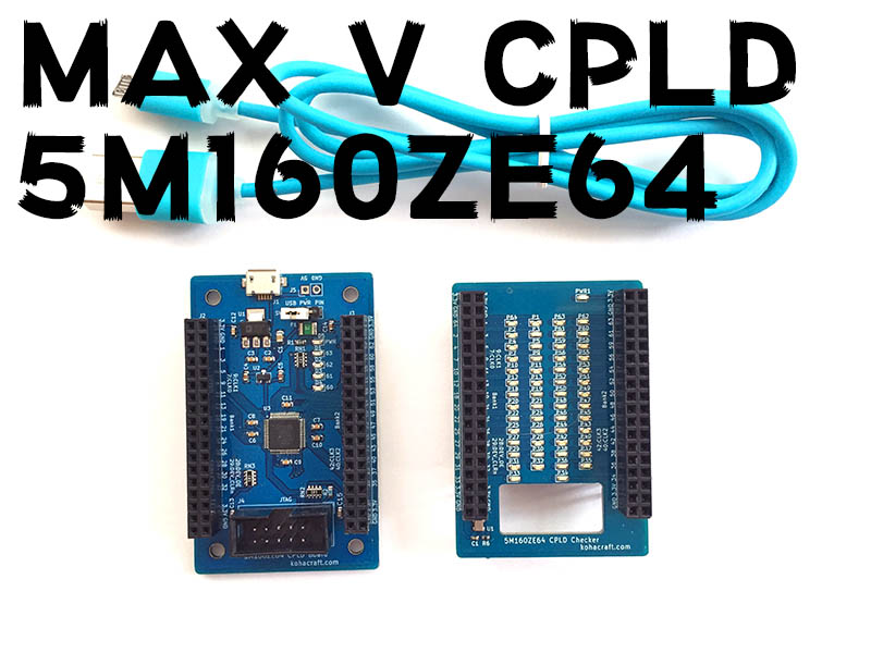 MAX V CPLD 実験セット画像