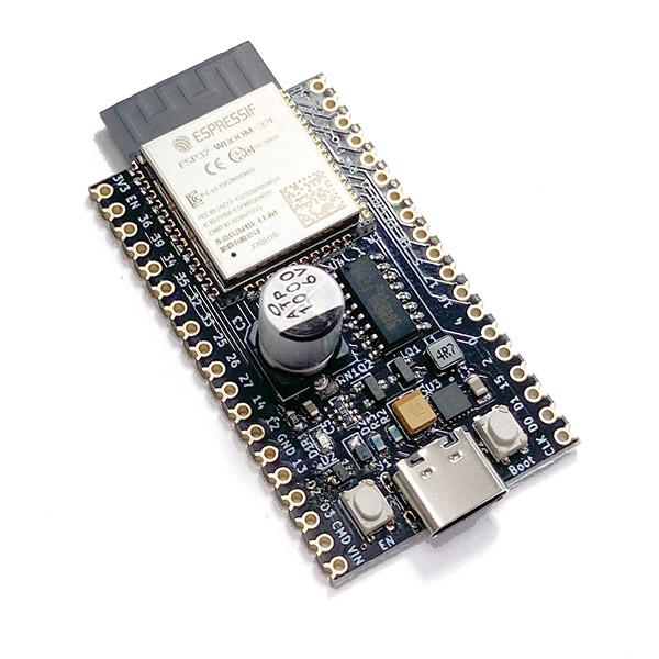 電池2,3本で動作するESP32-DevKitC互換機画像