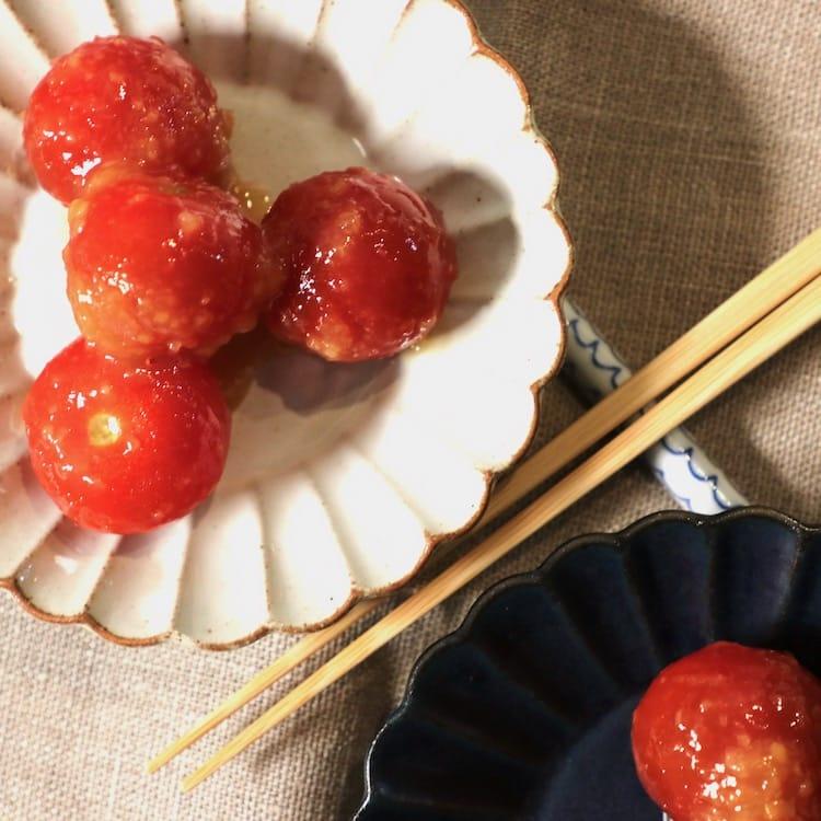 フルーツの様な甘さのトマト田楽(3人分)画像