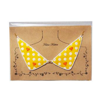 刺しゅうのえりネックレスM【D&H(YellowxOrange)】の画像