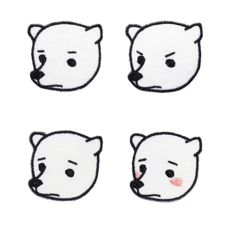 シロクマの顔ワッペンの画像