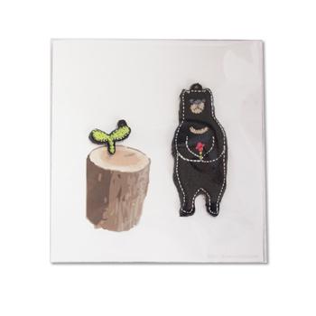 黒くまのキーホルダー(アクセサリーキット)の画像