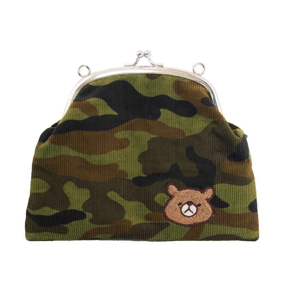 クマのがま口ポシェット(迷彩)画像