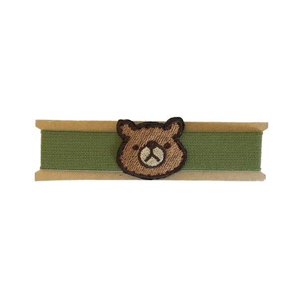 クマのゴムバンド(グリーン)の画像