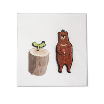 茶くまのキーホルダー(アクセサリーキット)の画像