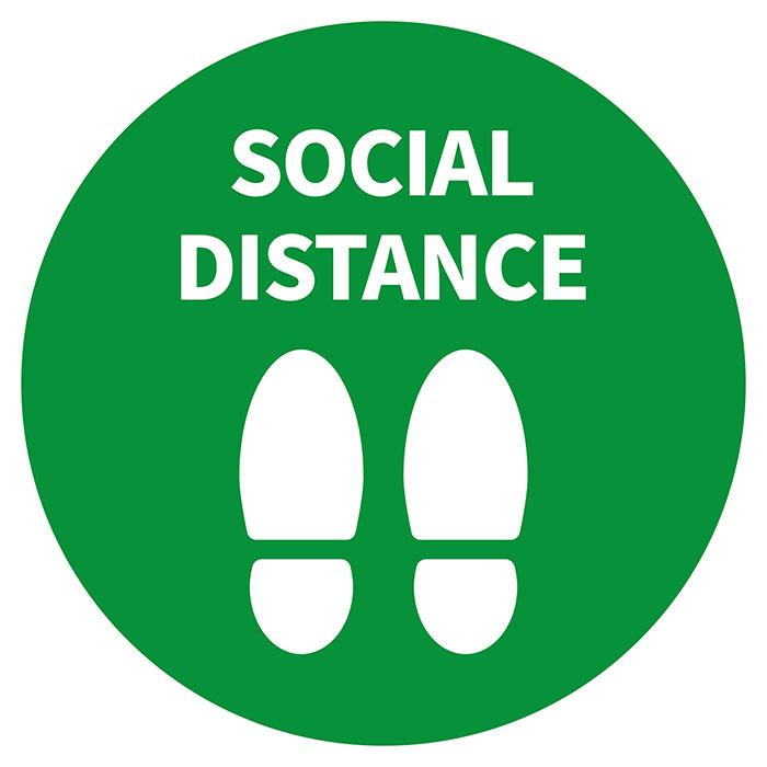 ソーシャルディスタンス(社会的距離) 目安 シール ステッカー画像