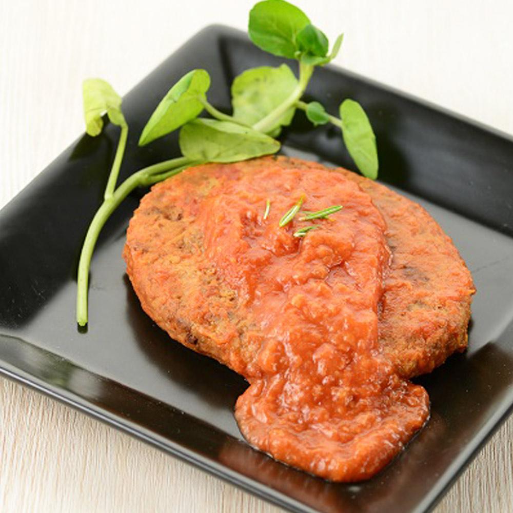 美味しい防災食ハンバーグ煮込みトマトソースのイメージ