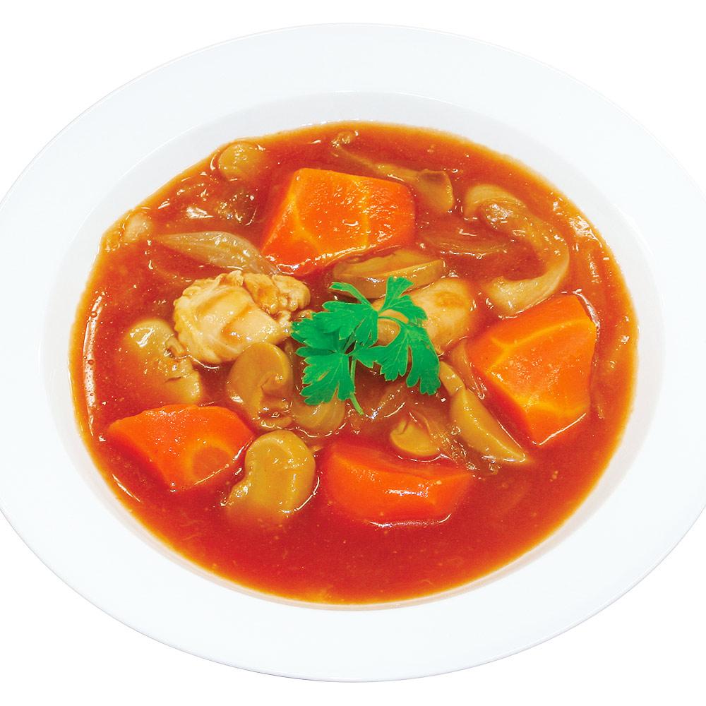 美味しい防災食鶏と野菜のトマト煮のイメージ