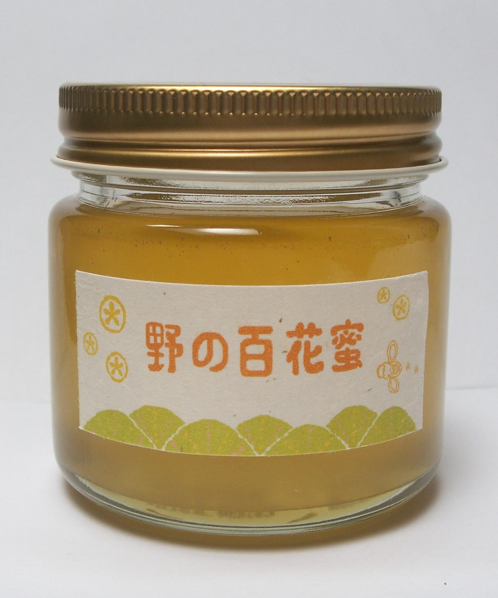 藤沢産 野の百花蜜(結晶蜂蜜) 150g画像