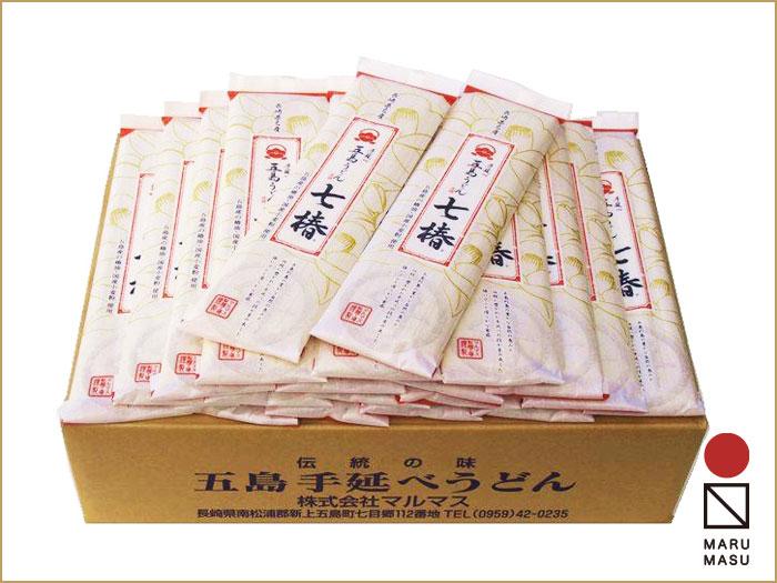 五島手延べうどん「七椿」(国産小麦使用)200g 40袋詰合せ|美味しさたっぷり、贈答品にもおススメ画像