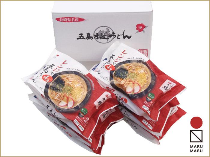 MR-10(冷凍)レンジ対応・五島手延うどん「七椿」 ミニうどん2食入り×6入  レンジで4分、簡単調理画像