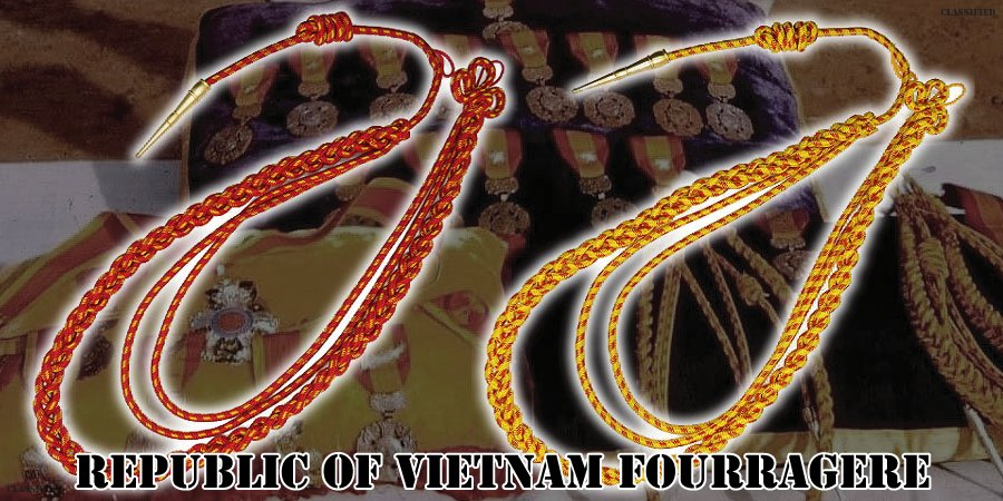 フラジェール (ベトナム共和国/南ベトナム)(Fourragere, SVN/RVN)[フラジェール・ショルダーコード(飾緒)]