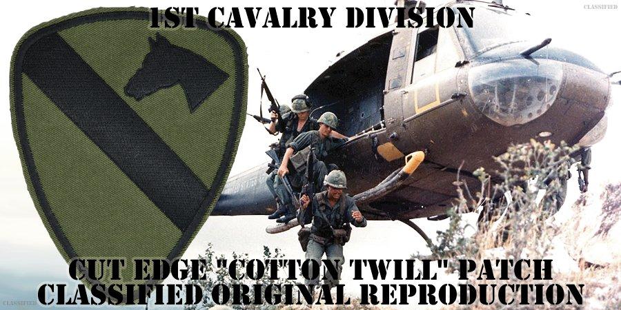第1騎兵師団(1st Cavalry Division)[サブデュード/カットエッジ/コットンツイル/パッチ/レプリカ]