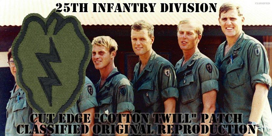 第25歩兵師団(25th Infantry Division)[サブデュード/カットエッジ/コットンツイル/パッチ/レプリカ]